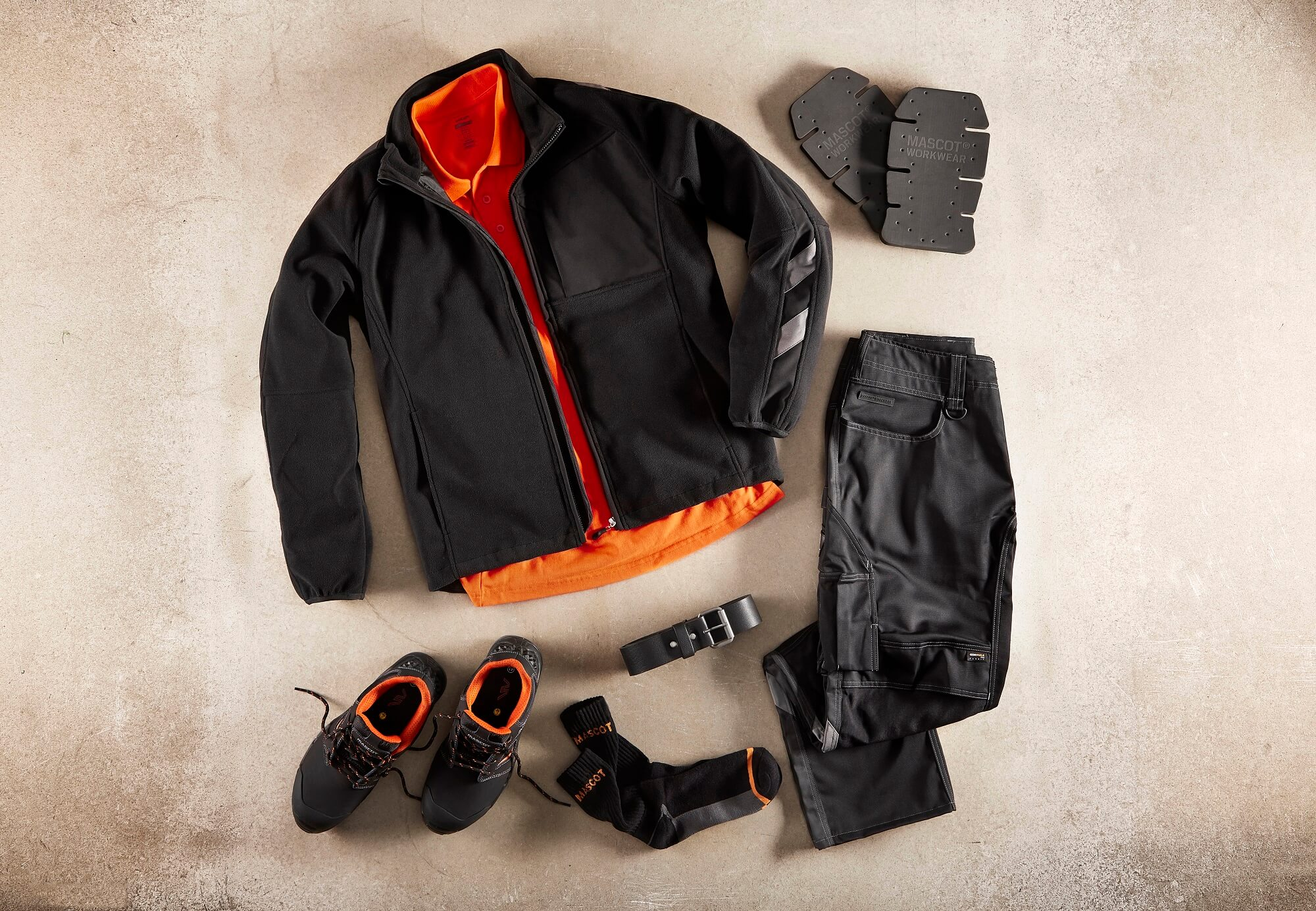 Collage - Black - Fleece Jacket. Work Trousers, Safety footwear & Hi-vis Polo Shirt