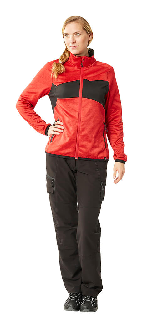 MASCOT® ACCELERATE Jumper for women & Work trousers for women - Red & Black