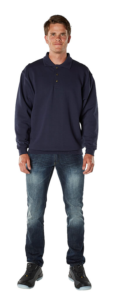 Polo Sweatshirt - Navy - Man