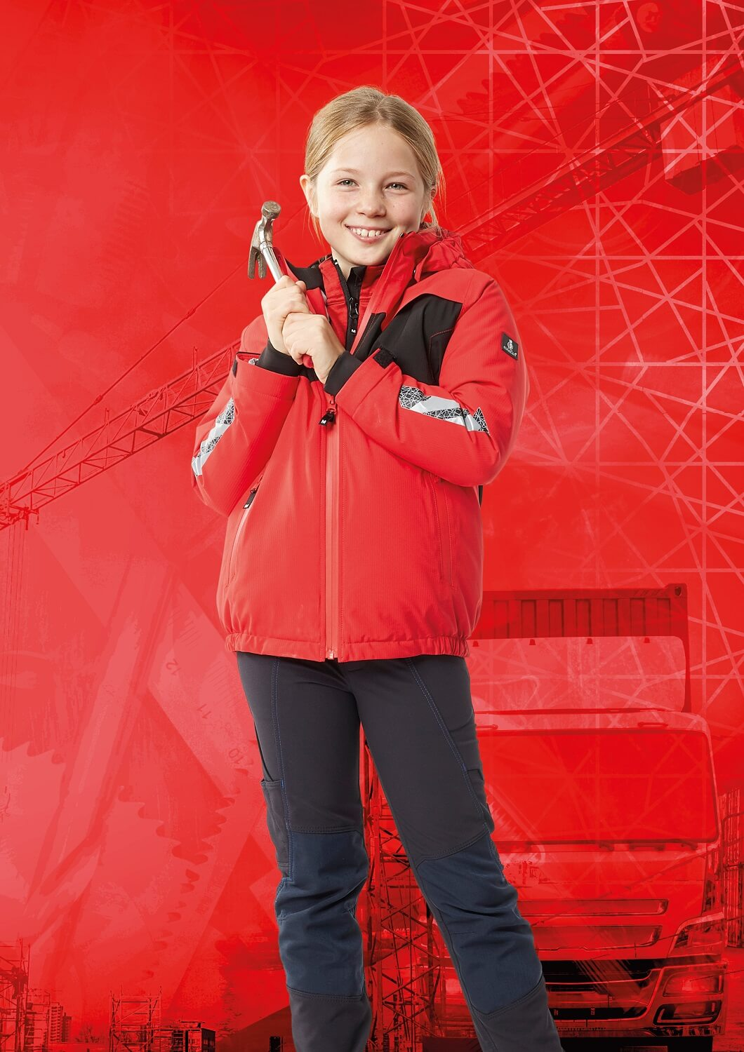 Children's Jacket & Trousers - Red & Black - MASCOT® ACCELERATE