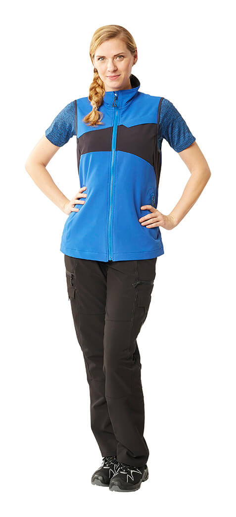 MASCOT® ACCELERATE - Royal blue - Gilet for women, T-shirt & Trousers - Model