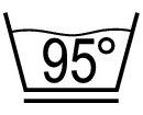 Permanent press, max. 95° C - Laundry Symbol