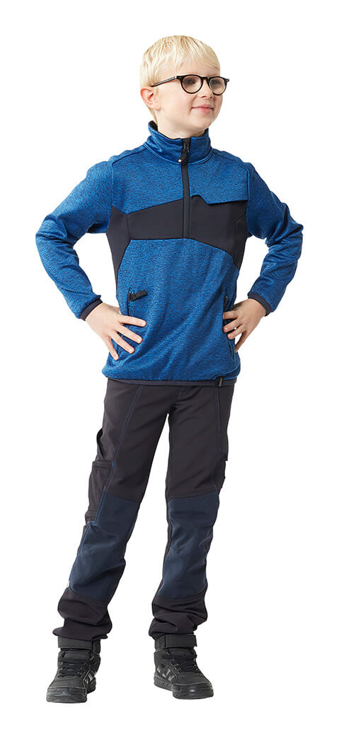 MASCOT® ACCELERATE Jumper for children & Trousers - Royal blue & Black
