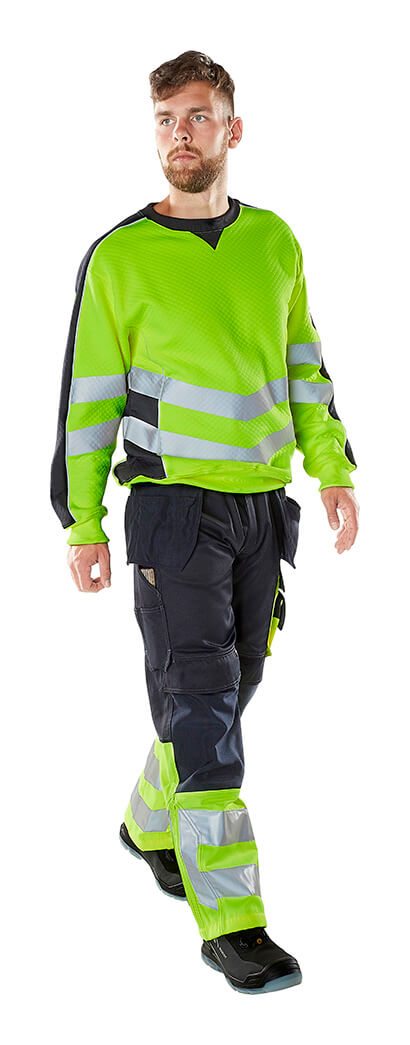 Hi-vis Jumper & Trousers - Fluorescent yellow - MASCOT® SAFE SUPREME - Model