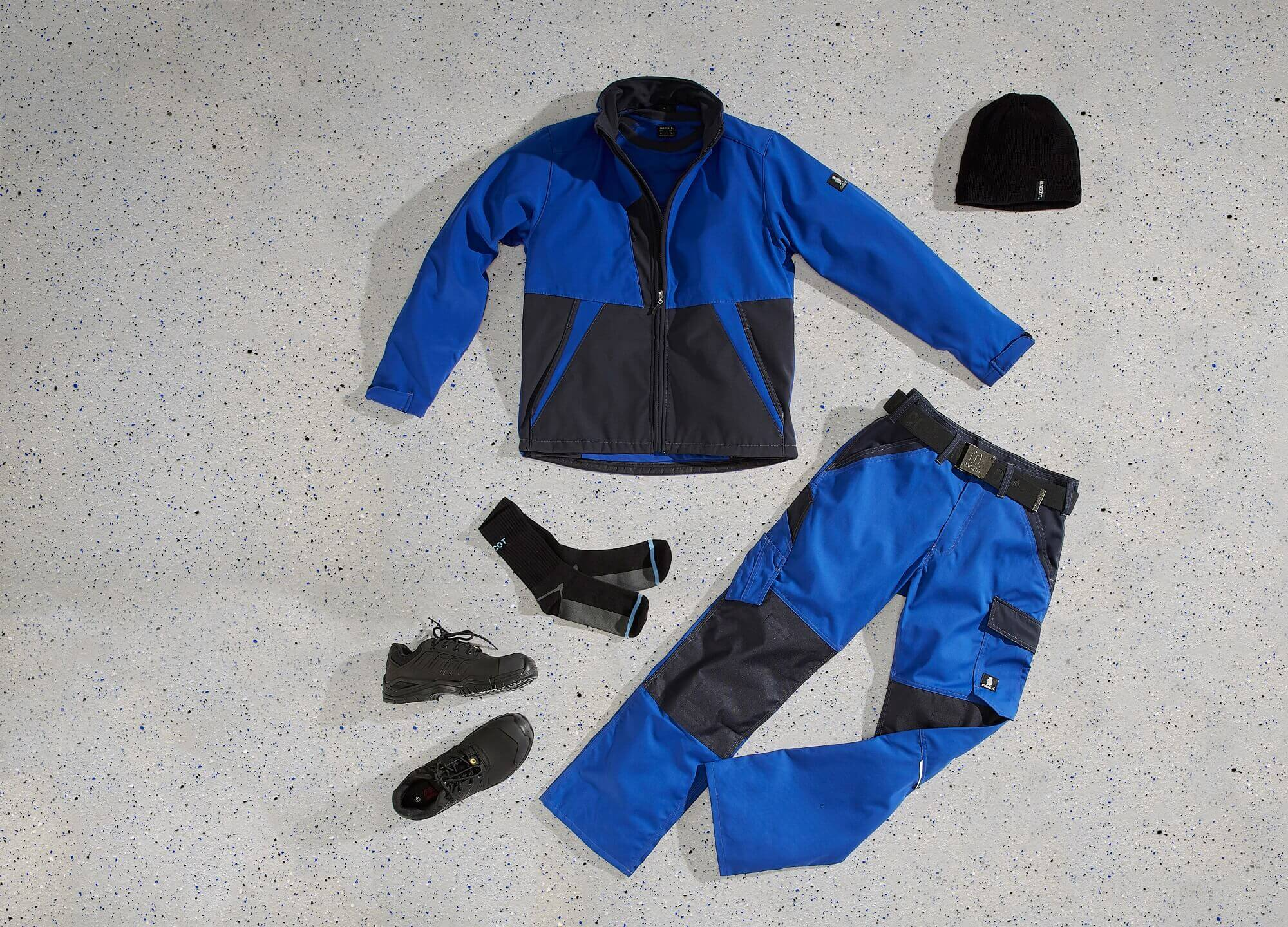 Royal blue - Softshell Jacket & Work Trousers - Collage<p />