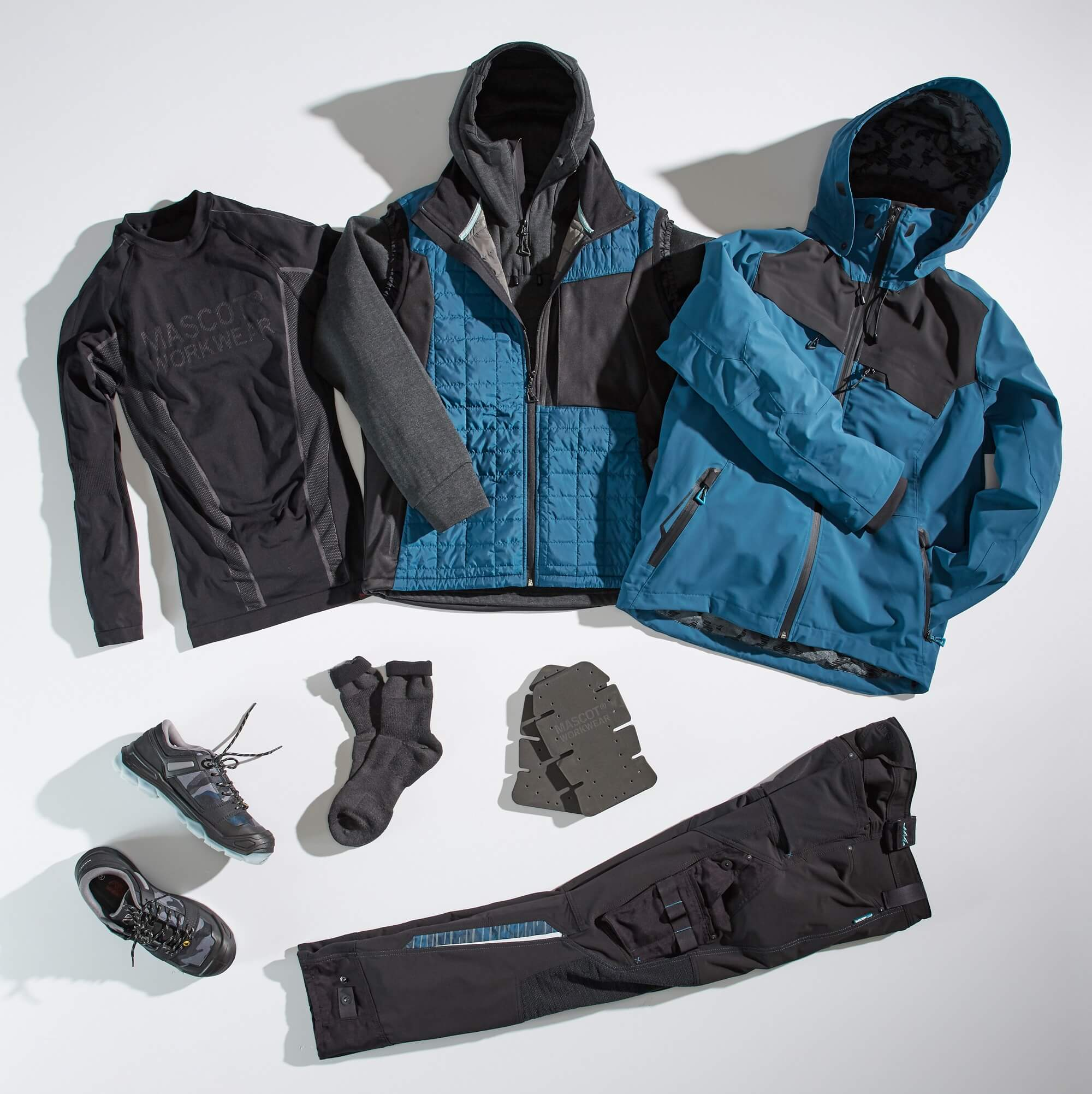 Collage - Work Jacket, Trousers, Functional Under Shirt & Accessories - Petroleum
