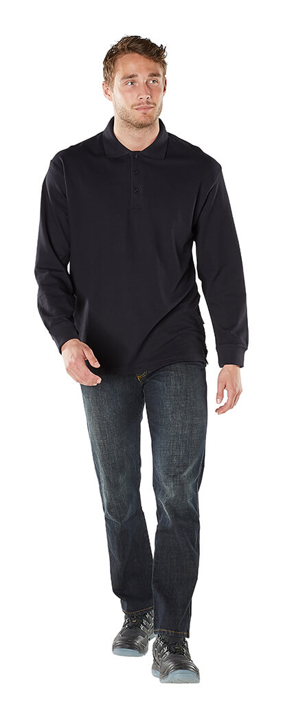 Man - Black - Polo Sweatshirt - MASCOT® CROSSOVER