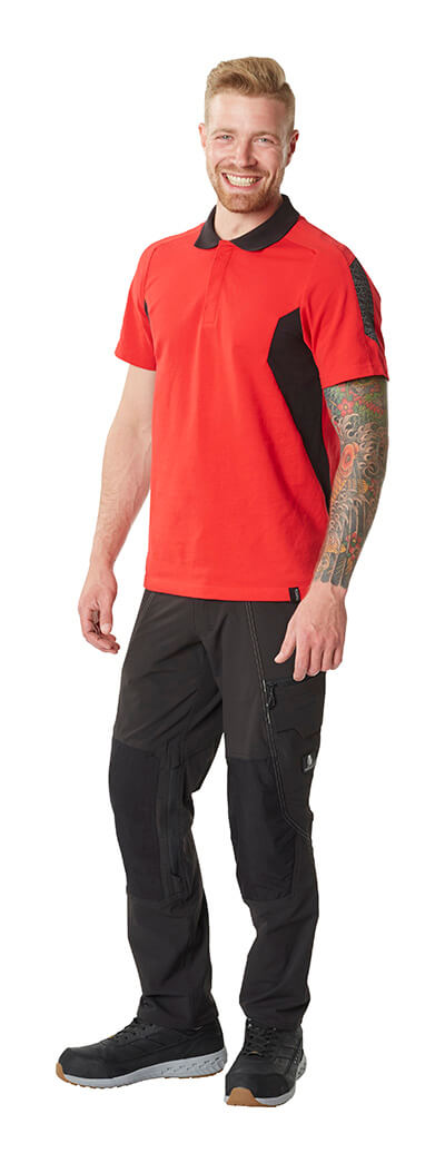 Trousers & Work T-shirt - Red & Black - MASCOT® ACCELERATE - Man
