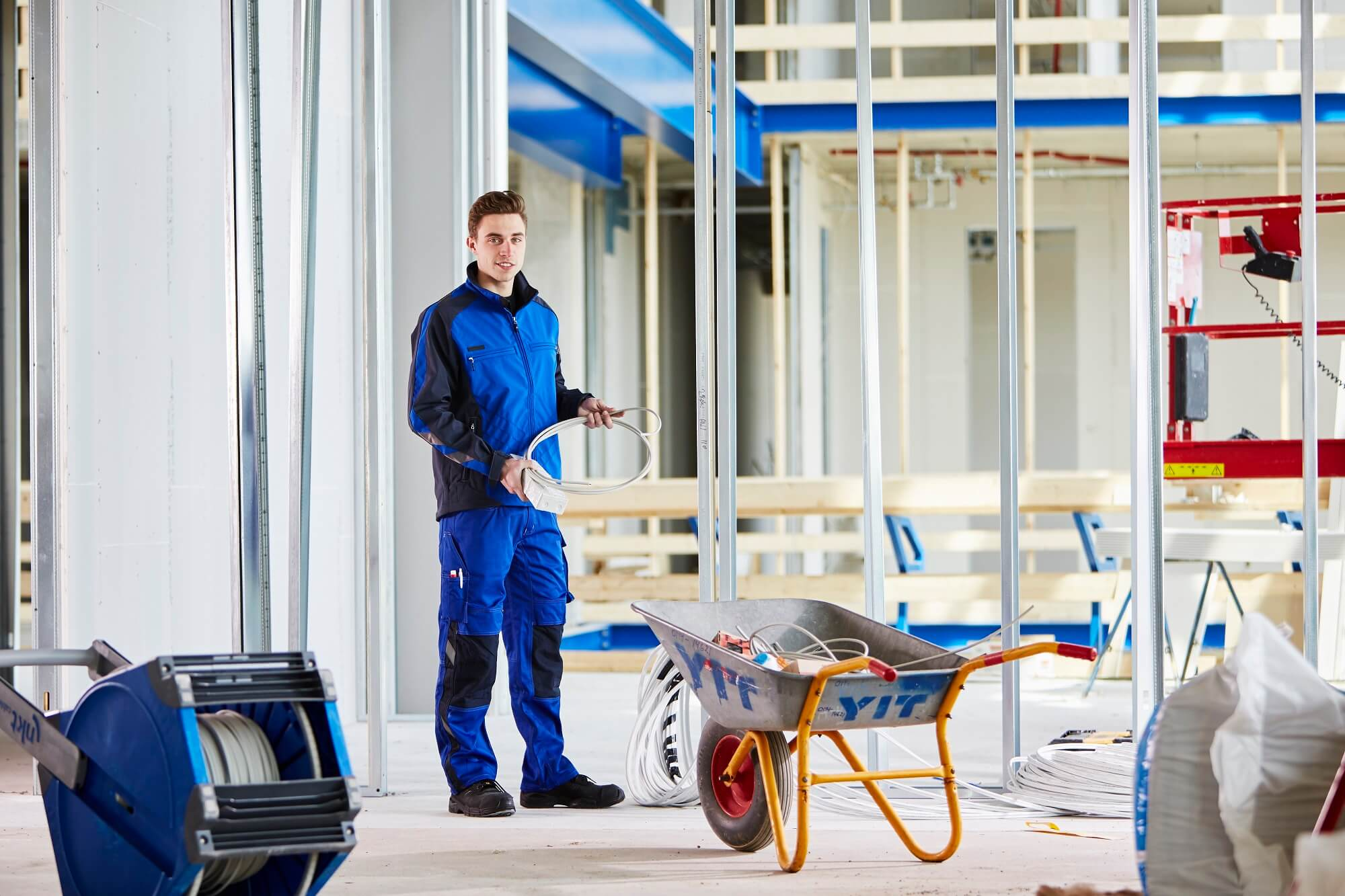 Work Jacket & Work Trousers - Royal blue - Craftmen and light building