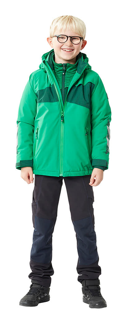 Green & Black - Children's Jacket, Jumper & Trousers - MASCOT® ACCELERATE