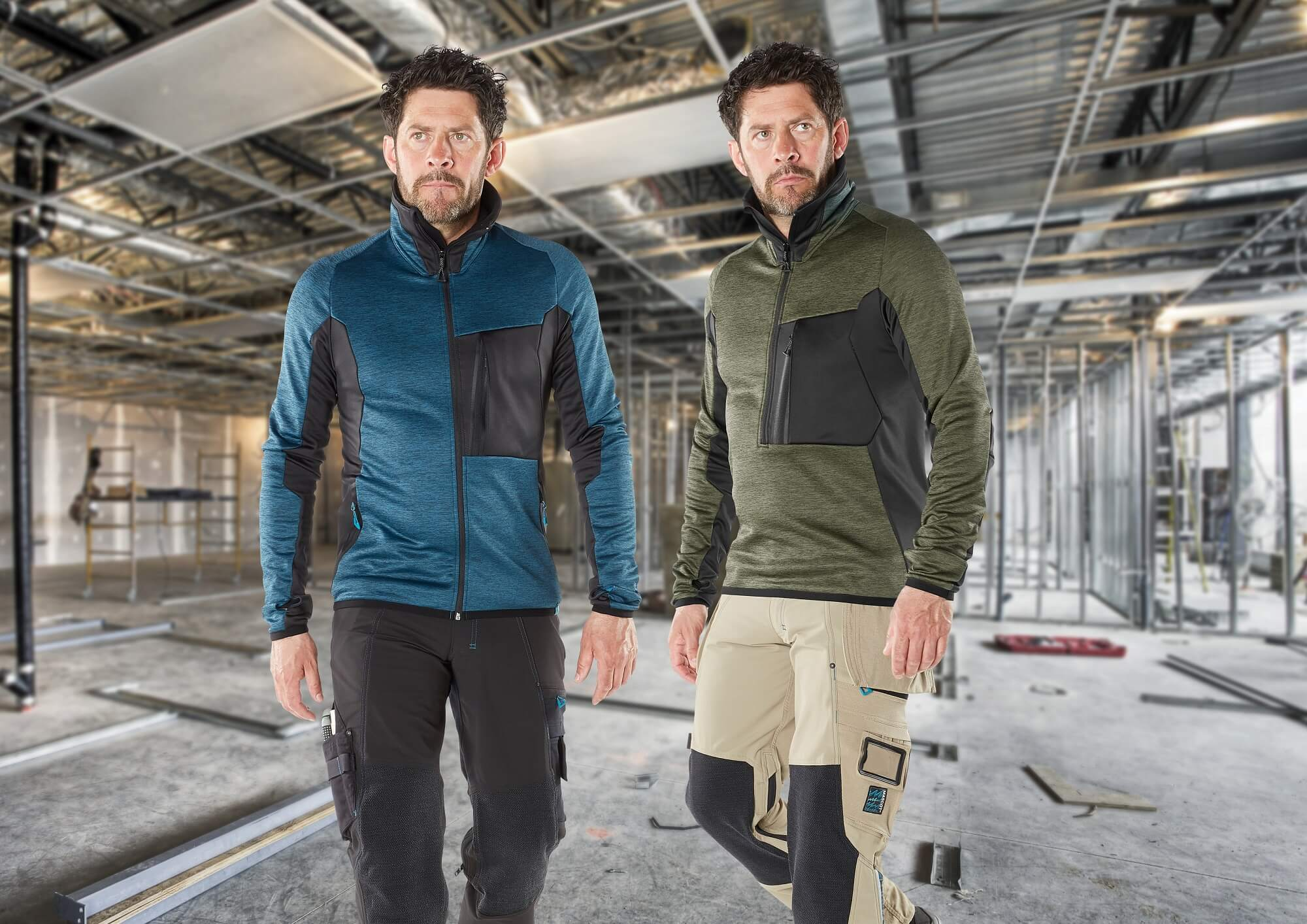 Zipped Jumpers - Men - Construction site