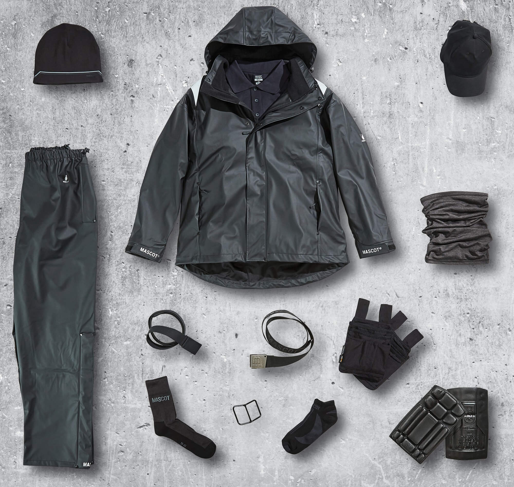 Waterproof Clothing & Accessories - Black - Collage