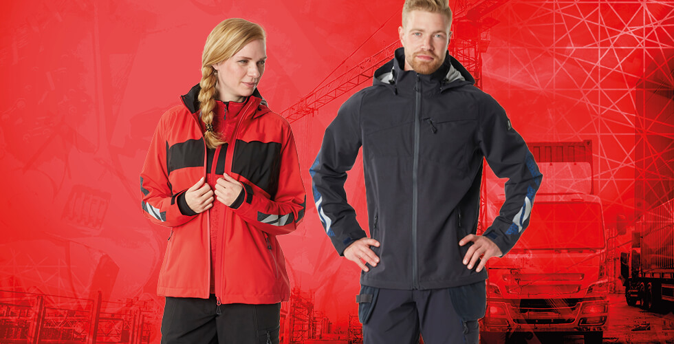 Waterproof, lightweight outer shell jackets in different versions for both men and women