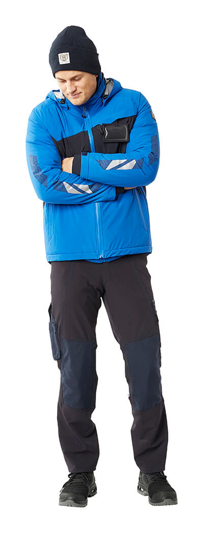 Winter Jacket, Knitted Hat & Trousers - Royal blue - MASCOT® ACCELERATE - Man