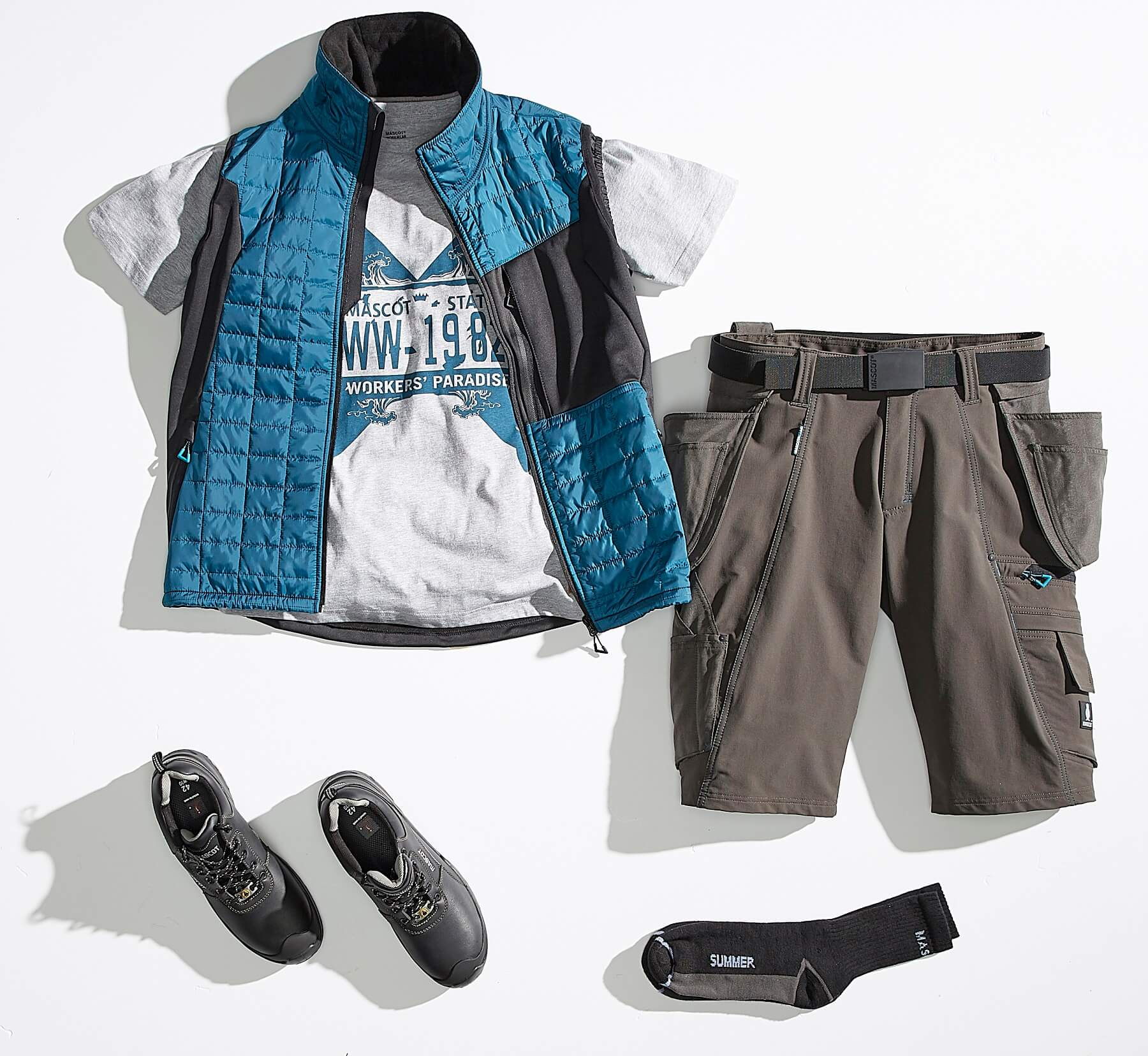 Collage - Gilet, T-shirt & Shorts - ADVANCED