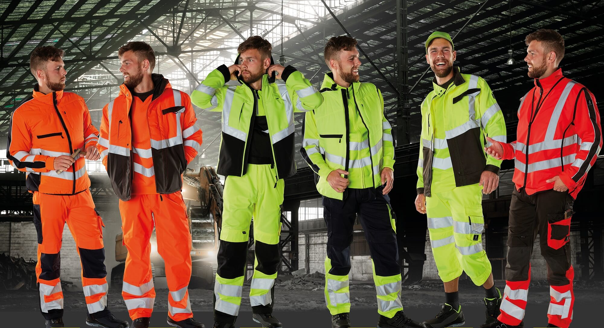 Fluorescent yellow, Fluorescent orange & Fluorescent red - Workwear - MASCOT® SAFE SUPREME
