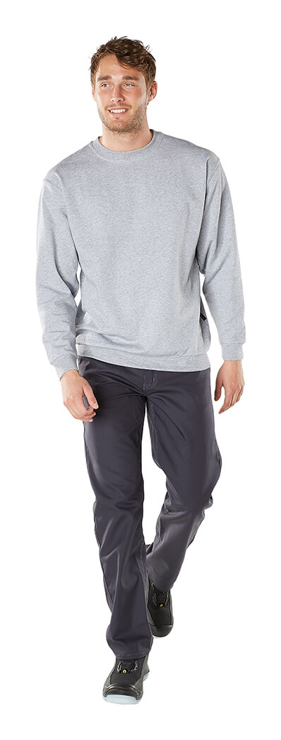 Grey - Sweatshirt - Man