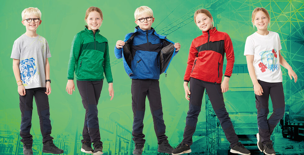 Durable clothes for children from a renowned workwear manufacturer